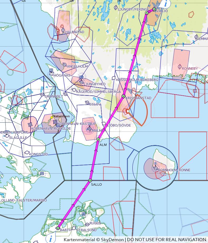 Luftfahrtwelt De Vfr Ins Ausland Schweden
